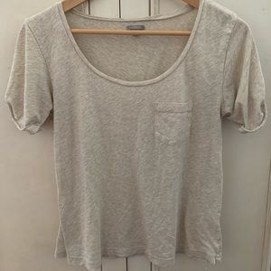 Tan Scoop Neck tee from Rubbish